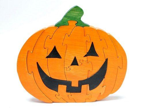 Jack O Lantern Puzzle And Halloween Decor Dessin Silhouette Puzzle En Bois Dessin
