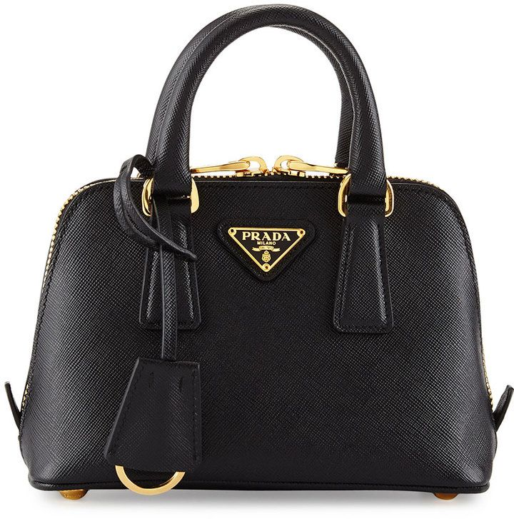 53a1c58b0023 Prada Saffiano Mini Promenade Bag, Black (Nero)   Handbags/Wallets ...