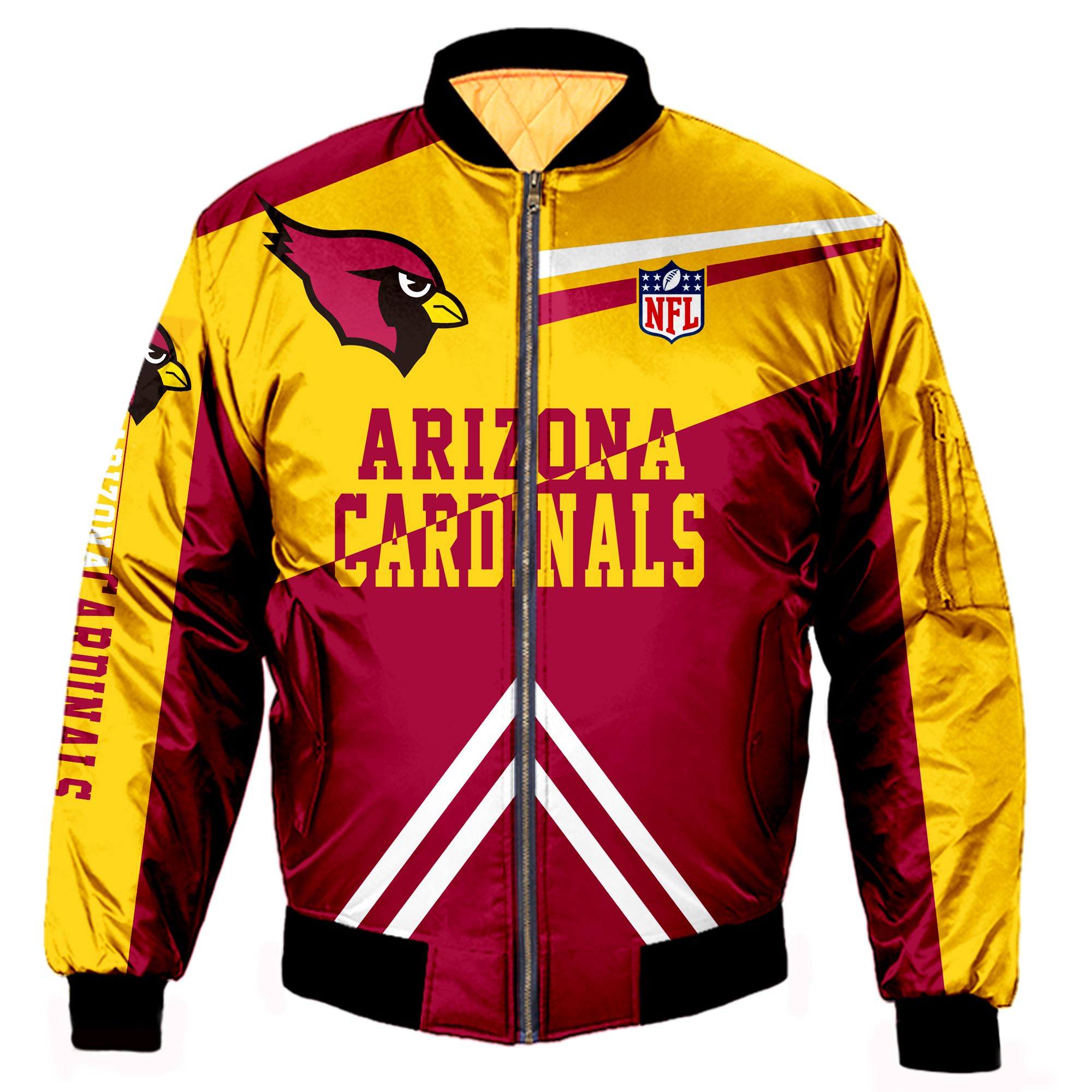 Arizona Cardinals Fans Bomber Jacket Men Women Cotton