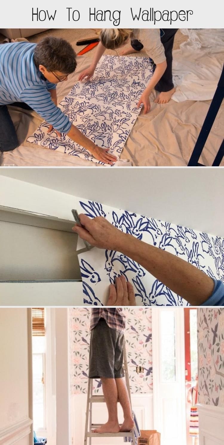 How To Hang Hygge West Wallpaper Non Pasted Wallpaper Installation Diy Dans Le Lakehouse Diy Furniture Making How To Install Wallpaper Finished Dining Room