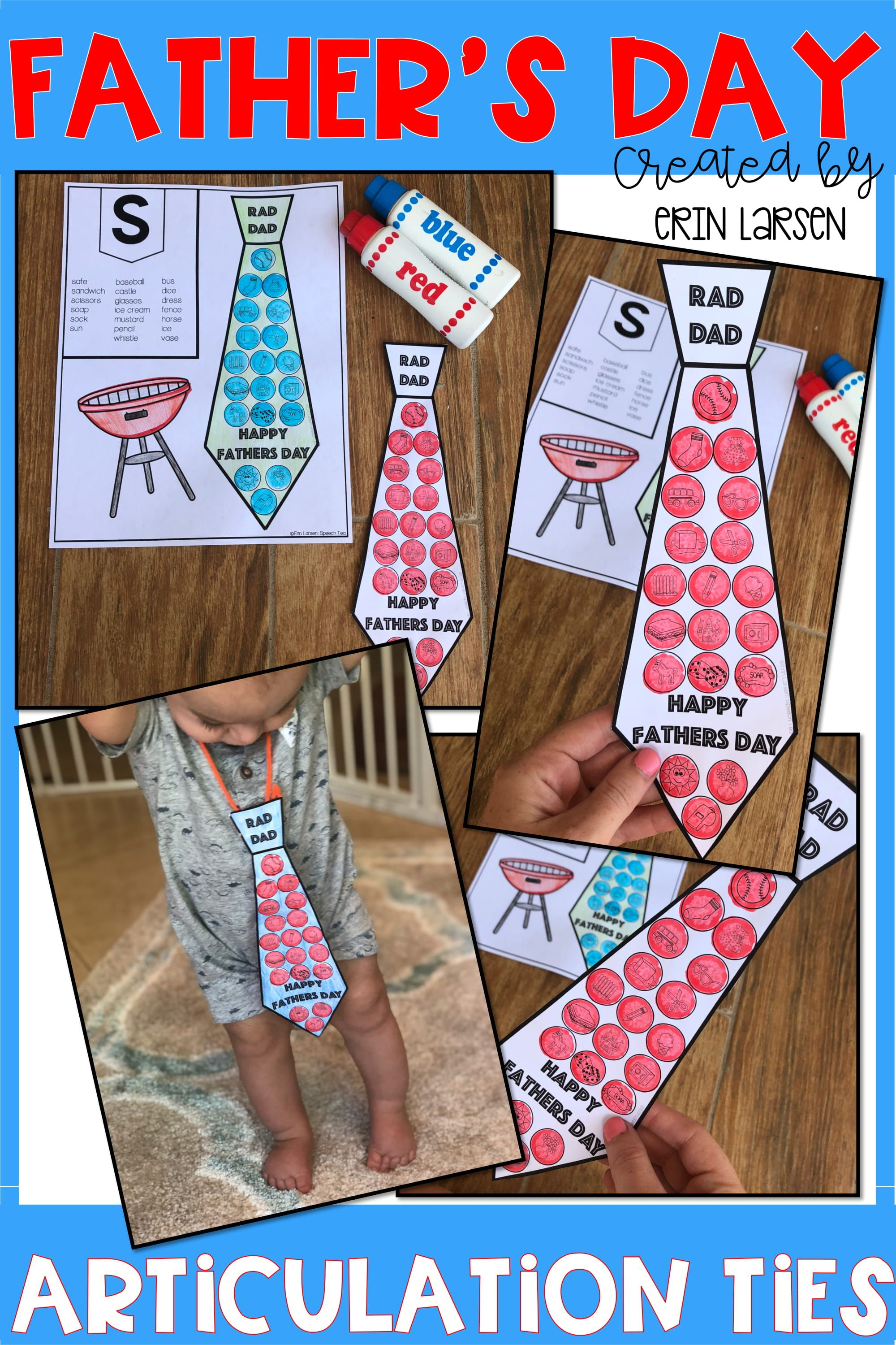 Father S Day Articulation Ties