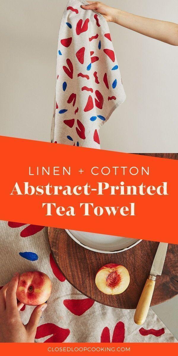 Photo of Silkscreened Mood Tea Towel  Eco Friendly Kitchen Products  CLC Shop   90scart #