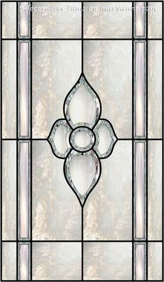 Bevel Window 4 Faux Privacy Stained Glass Clings And