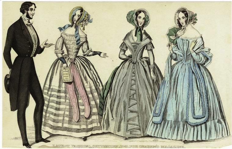 Image result for styles for southern men and women in 1840's