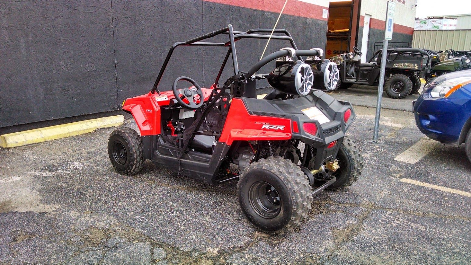 hight resolution of custom built polaris rzr 170 woods cycle country in new braunfels woodscyclecountry