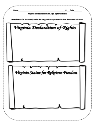 Virginia Studies Review: VS.6 New Nation from Kristin