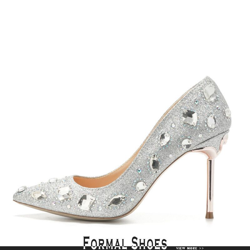 65308fe5e9ac Sparkly Red Court Wedding Shoes With Crystals 2018  ALA-6862 ...