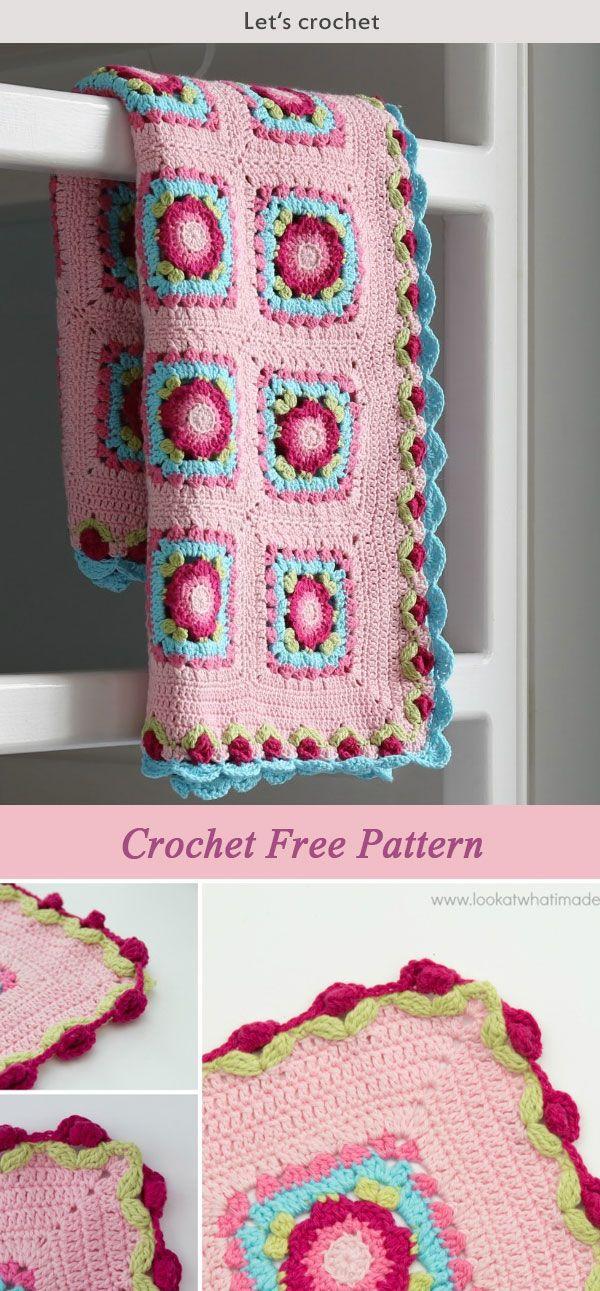 Crochet Lydia Blanket Free Pattern   häkeln   Pinterest   Häkeln ...