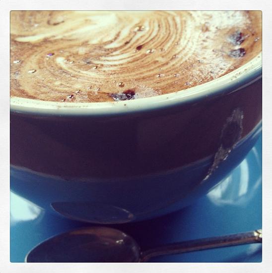 #Coffee at The Roadhouse in #ByronBay. #Caffeine #TeaCup #Cute #Blue