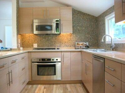 Quarter Sawn white Oakrift cut horizontal grain and quartz – Quarter Sawn White Oak Kitchen Cabinets