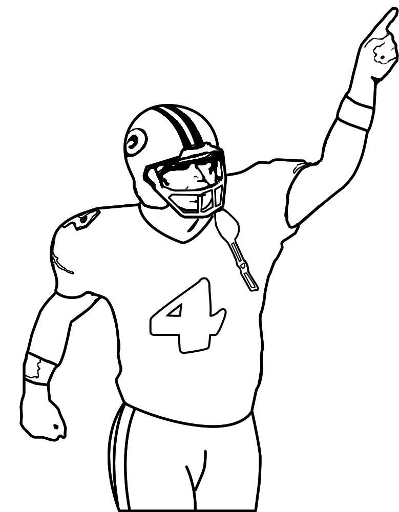 player nfl football coloring pages