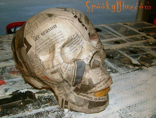 Diy paper mache skull tutorial for Things made out of paper mache