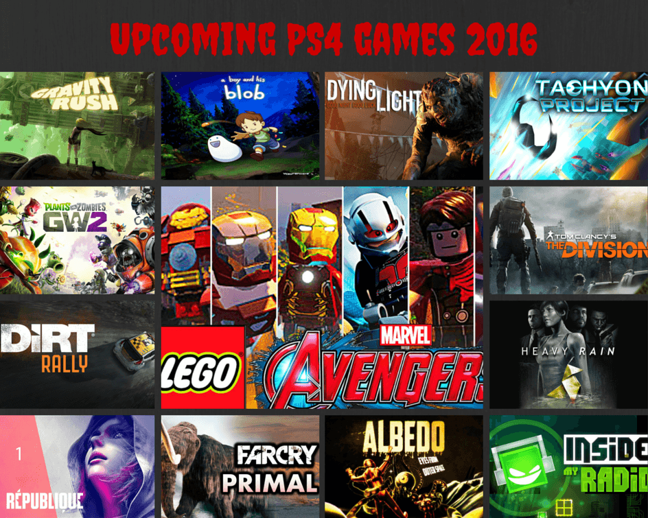 PS42016 List Check out some awesome games