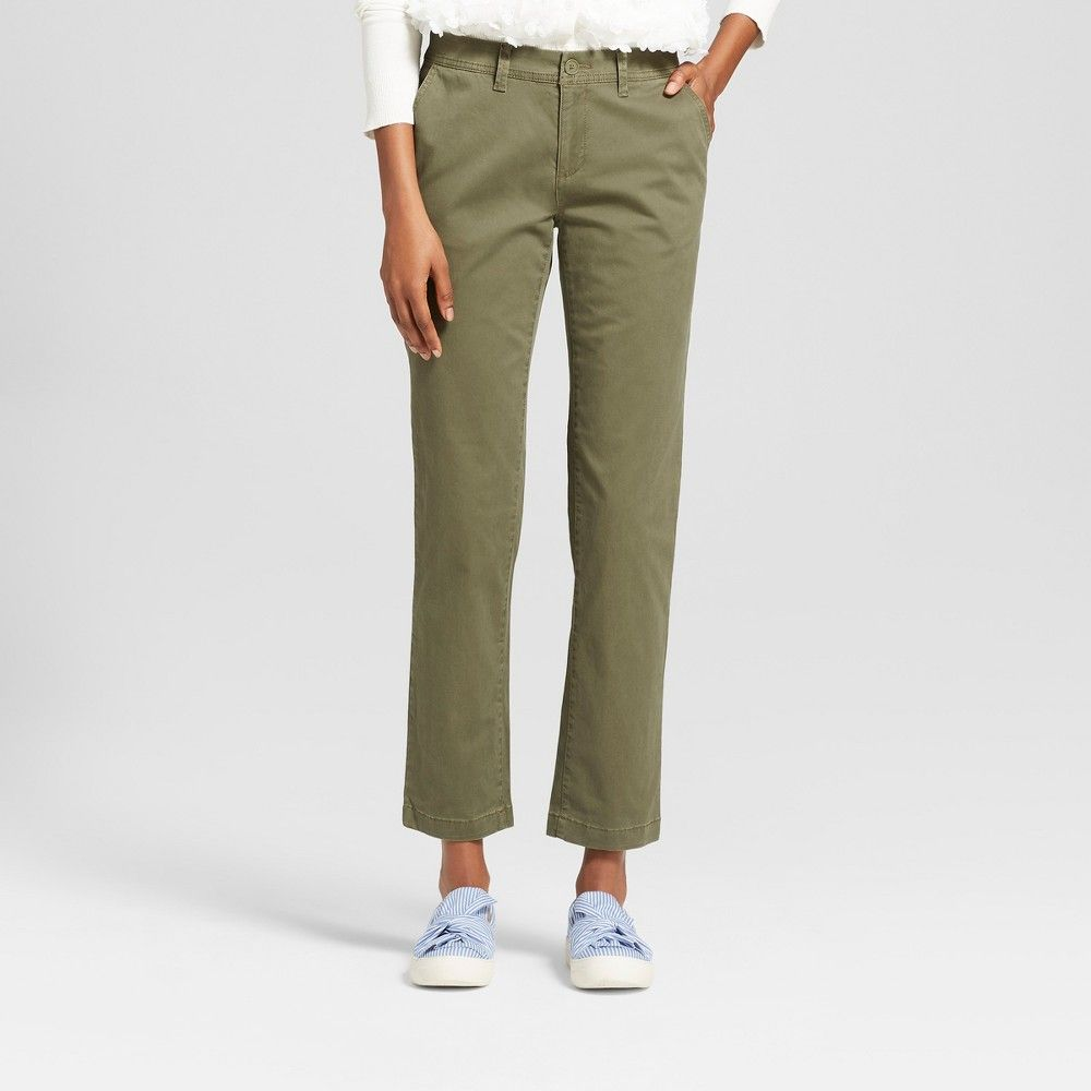 3f8454ed0cd2 Women's Slim Chino Pants - A New Day Olive (Green) 12 | Products