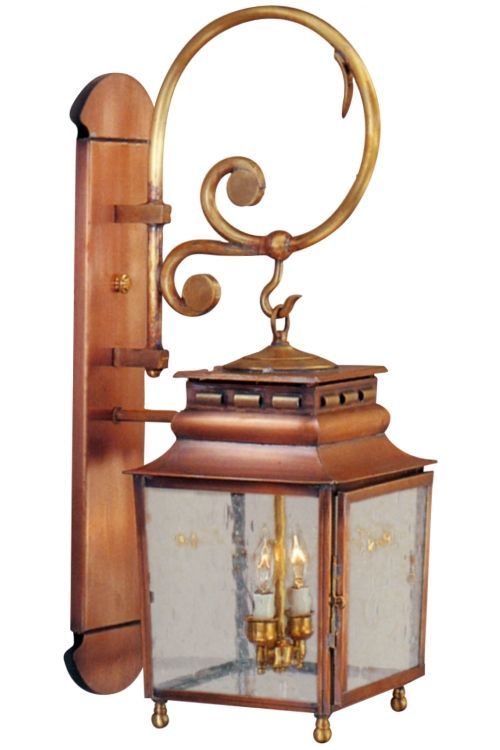 Jackson wall mount lantern with bracket and scroll copper lantern jackson copper lantern wall light with bracket and scroll aloadofball Image collections