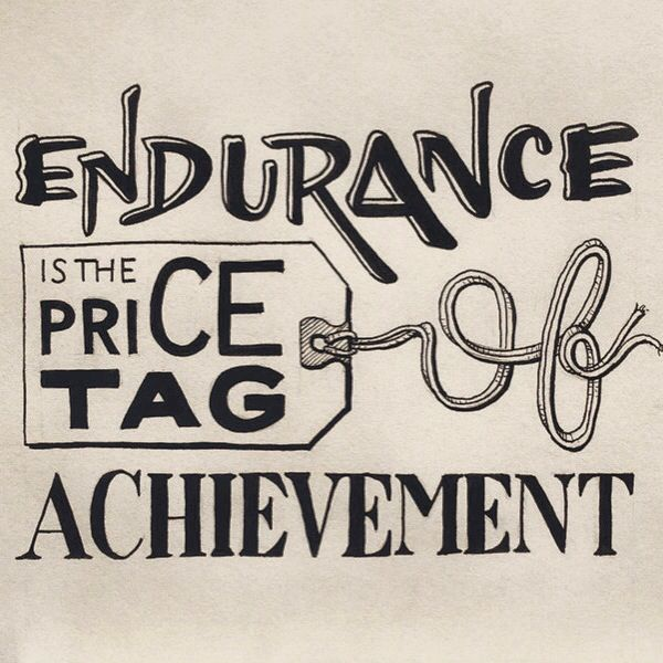 Price Quote: Endurance Is The Price Tag Of Achievement #quotes #quote