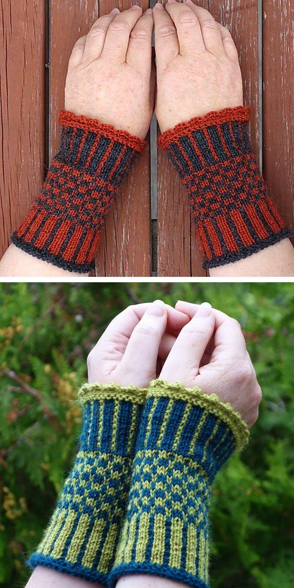 Free knitting pattern for Ida Wrist Cuffs - Arm warmers ...