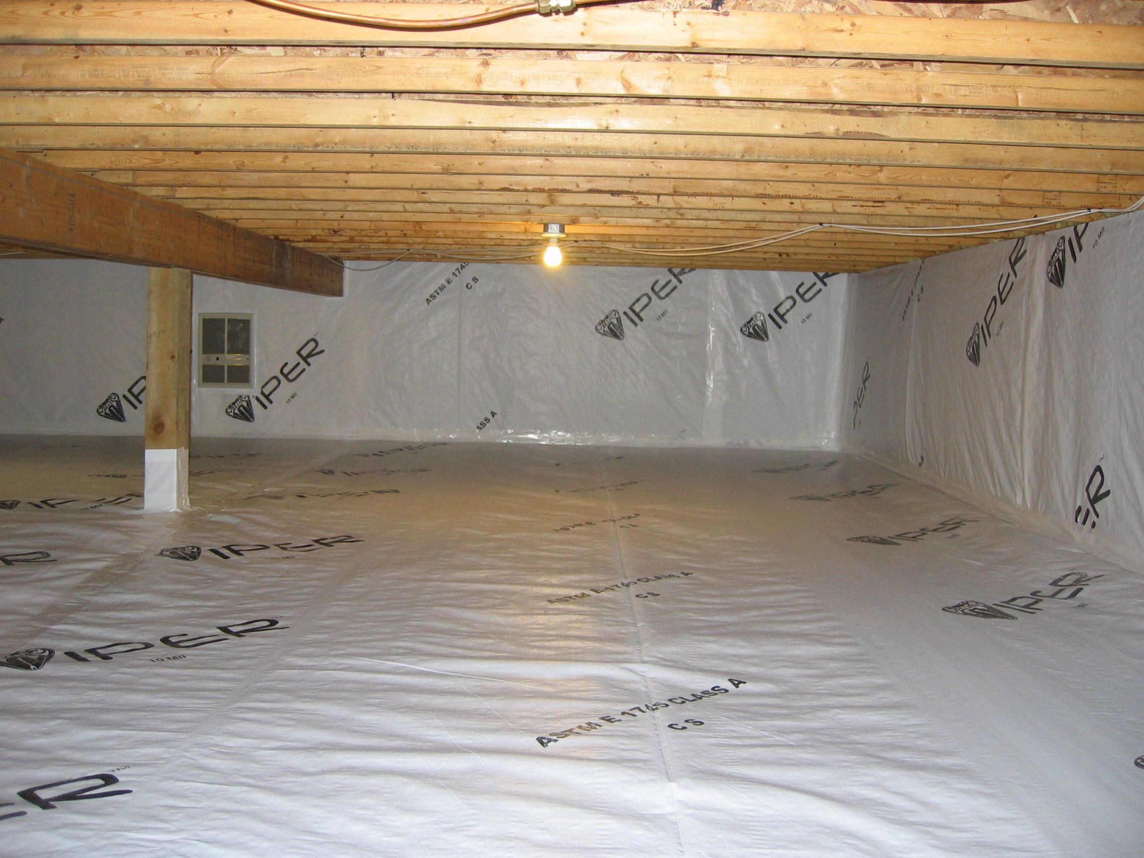 Viper cs is a vapor barrier designed specifically for Crawl space flooring