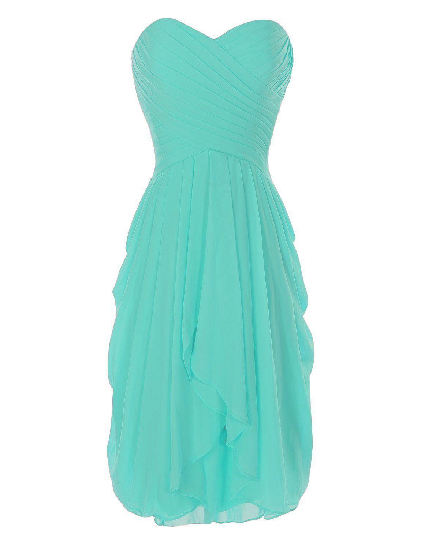 Onlinedress Women\'s Ruffles Bridesmaid Dress Short Party Gown Size ...
