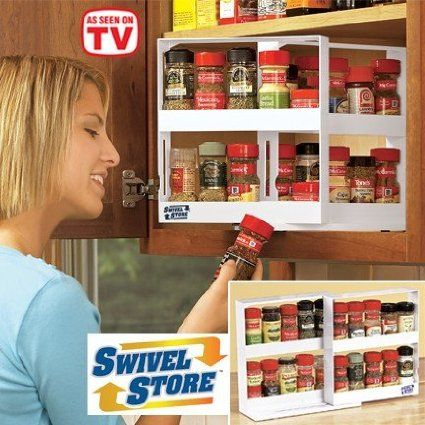 As Seen On Tv Spice Rack Swivel Store Deluxe Spice Rack & Cabinet Organizer Storage System