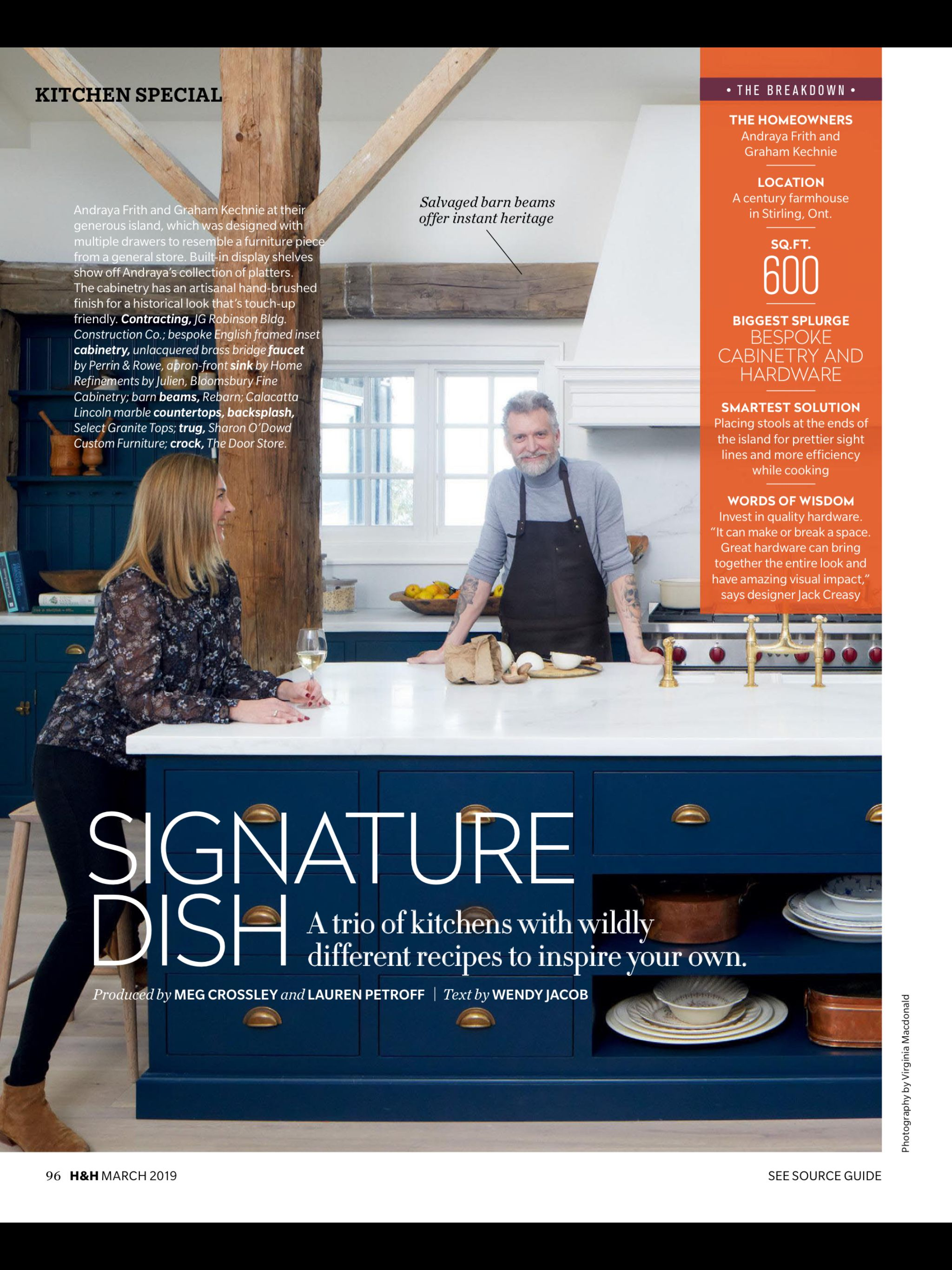 Signature Dish From House Home Magazine March 2019 Read It On The Texture App Unlimited Access To 200 House And Home Magazine Barn Beams Smart Solutions