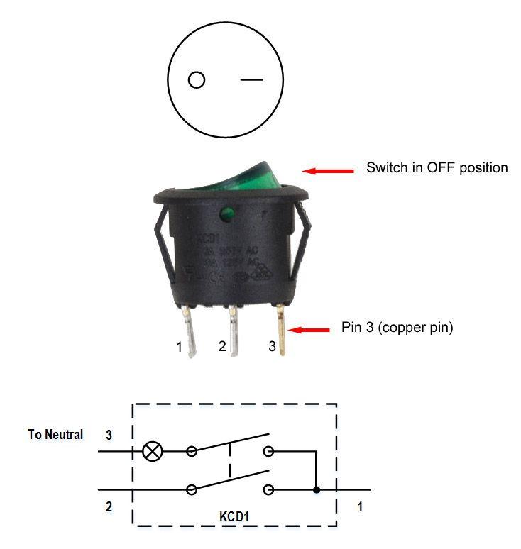 3 Pin Led Rocker Switch Wiring Diagram