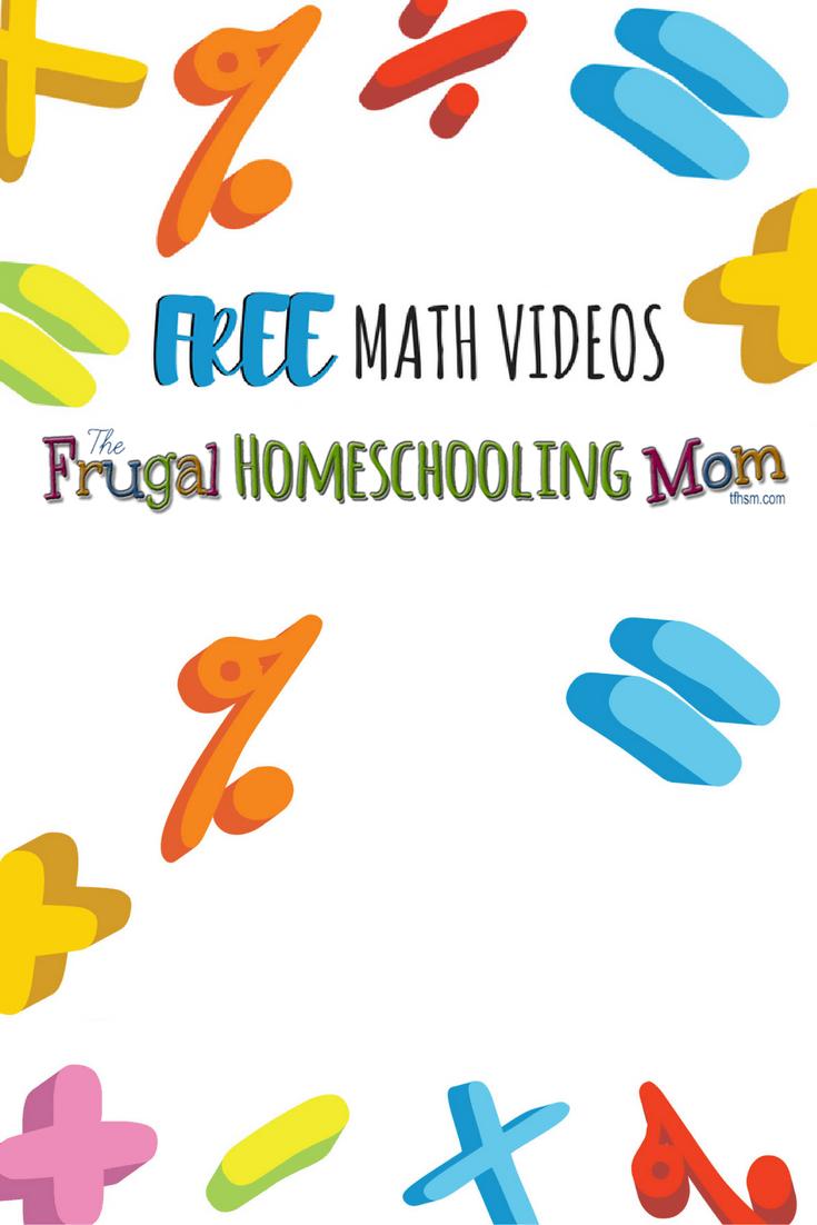 Free Homeschool Math Videos | Homeschool math, Homeschool and Math