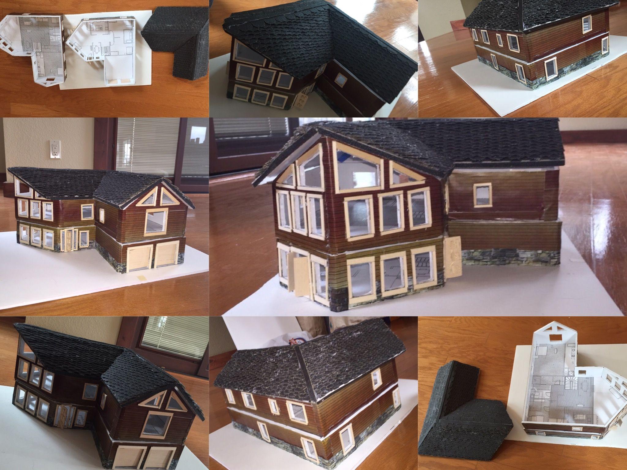 Model house using foam board architecture