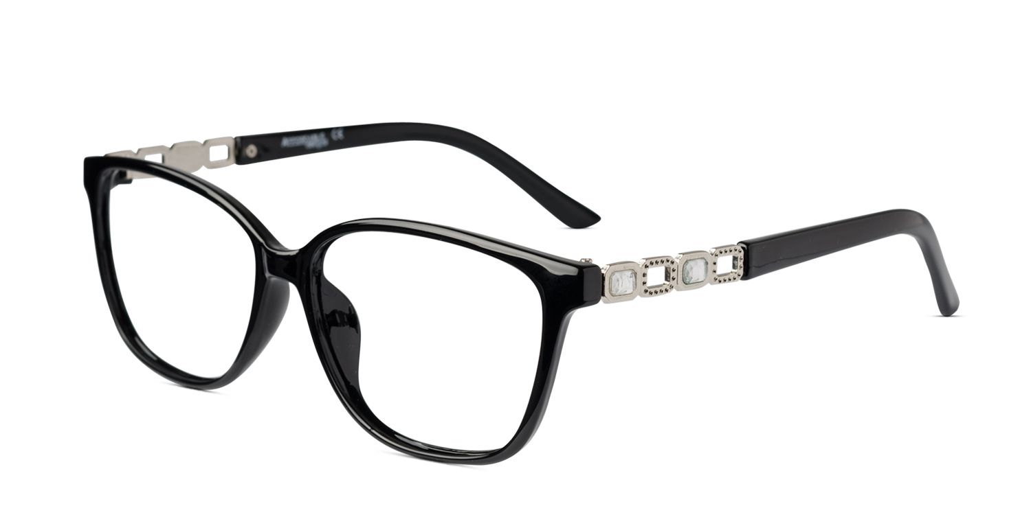 8a55d5620784 The Pam black is a light-weight butterfly shape frame that is perfect for  medium