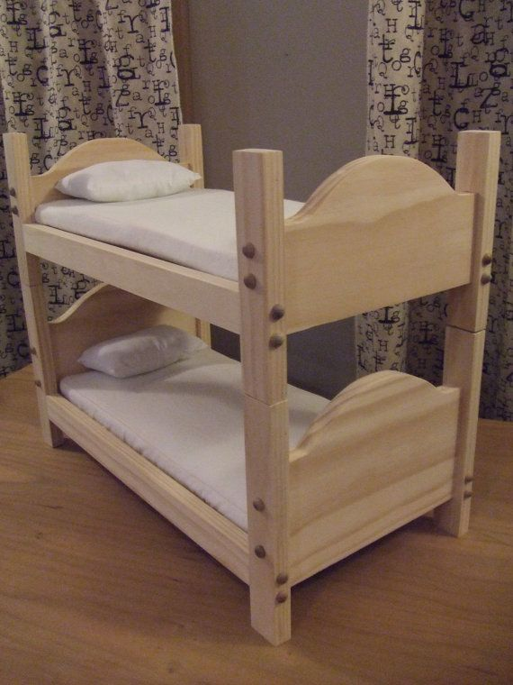 Bunk Bed For American Girl Doll Or 18 Inch Doll Toy By Sashali