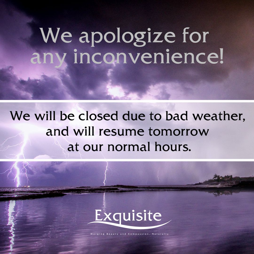 Due to inclement weather today Tuesday, February 12, 2019