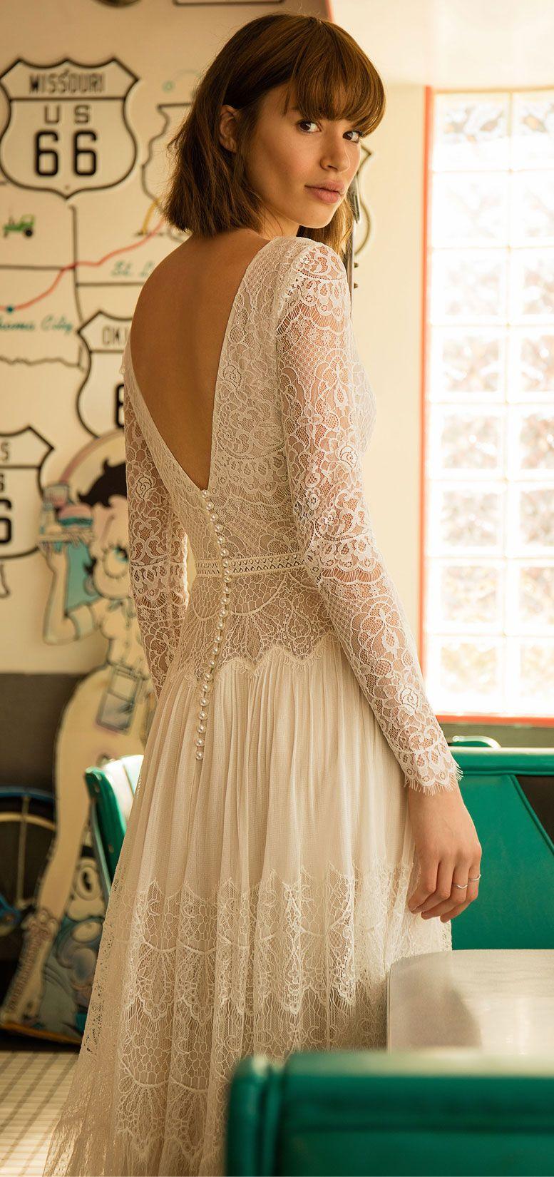 Flora Bride - Siren Of The Desert 2019 Bridal Collection, boho wedding dress, bohemian wedding gown ,a-line wedding dress,long sleeves wedding gown #wedding #weddingdress #weddinggown #bridedress