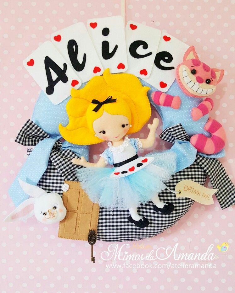 Guirlanda Para Porta Maternidade Alice No Pais Das Maravilhas