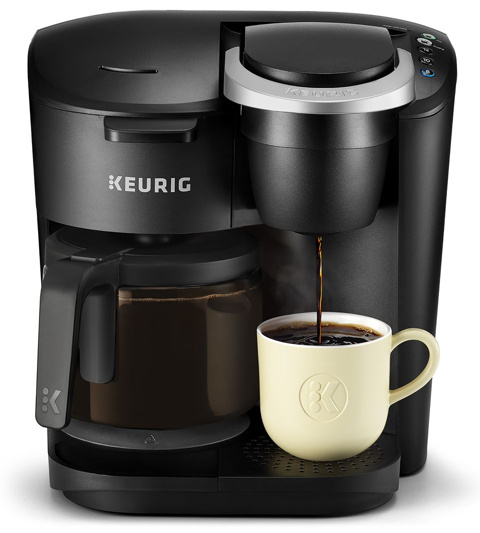 Keurig K Duo Essentials Coffee Maker With Single Serve K Cup Pod And 12 Cup Carafe Brewer Black Walmart Com Single Coffee Maker Coffee Maker Reviews Keurig Coffee Makers
