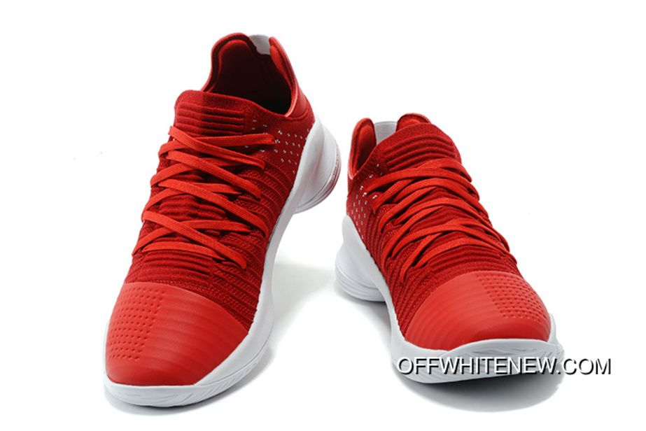61298deaac0 Under Armour Curry 4 Low Red White Free Shipping