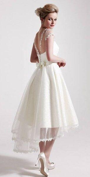 100+ Best Tea Length Brautkleider für ältere Bräute (2. Ehe)