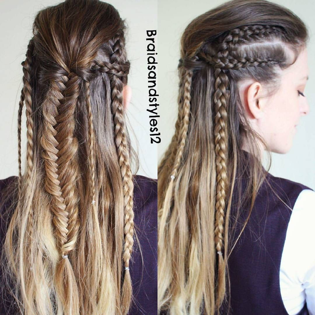 Braids Hairstyles Sur Instagram Octavia Blake Inspired Hairstyle From The 100 Tutorial Link In My Long Hair Styles Braided Hairstyles Tribal Hair