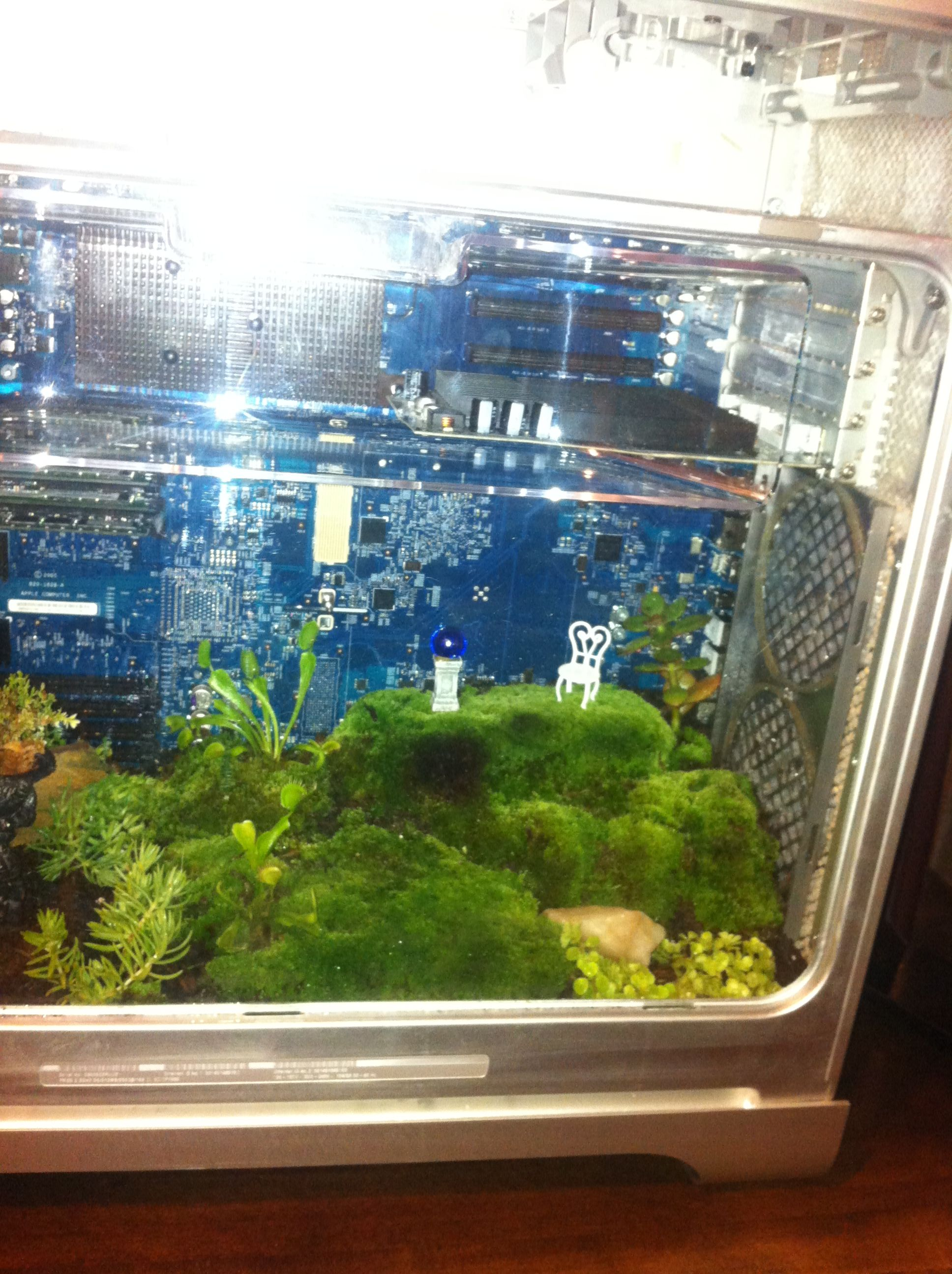 Turn An Old Mac puter Into A Terrarium With Mini Garden Inside