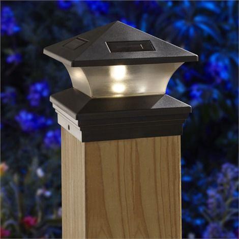 Solar Led Postcap For 6 X 6 Posts Illuminating A Garden Solar Energy Design Solar Post Caps Solar Energy Diy