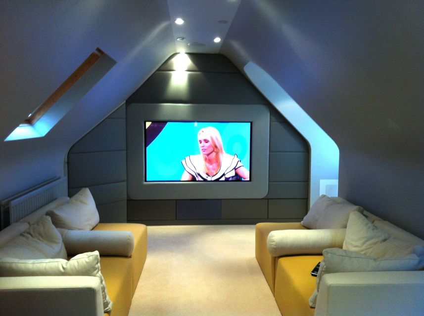 hmm a media cinema room in the attic ideas for the