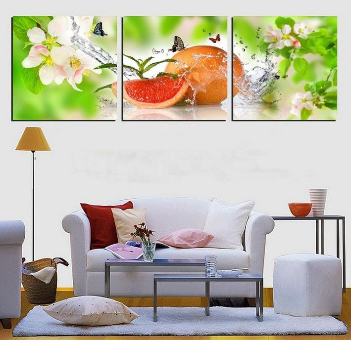 Modern Kitchen Paintings 3panels modern kitchen art picture painting combination modern