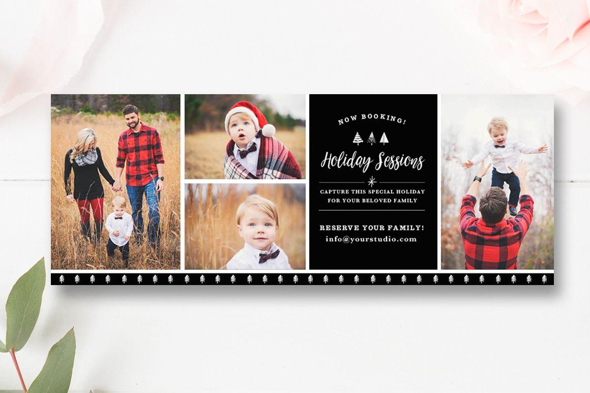 Christmas Mini Template Holiday Session Chrstmas Marketing