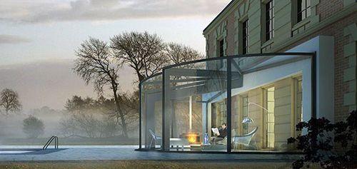Contemporary Glass Veranda Home Design Ideas by OpenSun