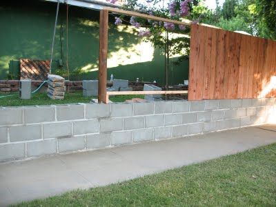 Exactly What I Want For Our Backyard Cinder Blocks With Fence On - Cinder block wall fence ideas