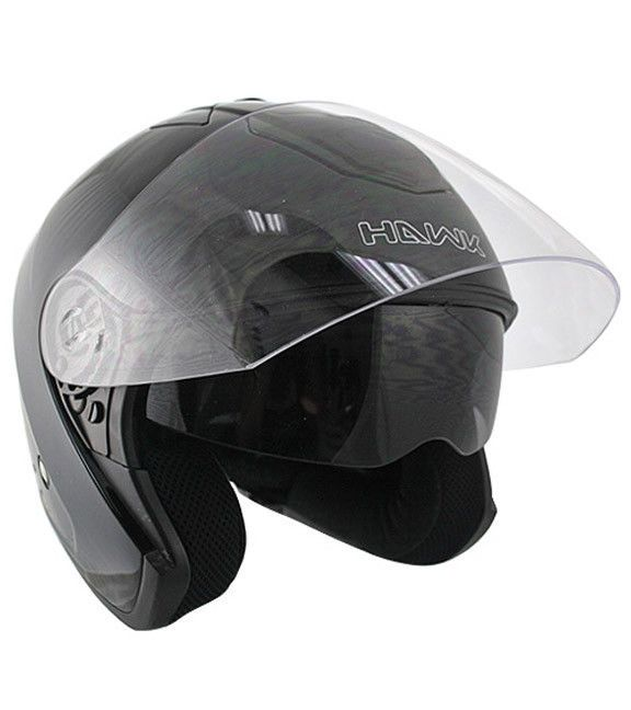 25a621f6 Hawk AP-80 Gloss Black Dual Visor Open Face Motorcycle Helmet #HAWK # Motorcycle