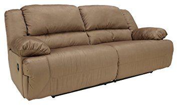 Ashley Furniture Signature Design Hogan Reclining Sofa Manual Recliner Couch Mocha Brown Review