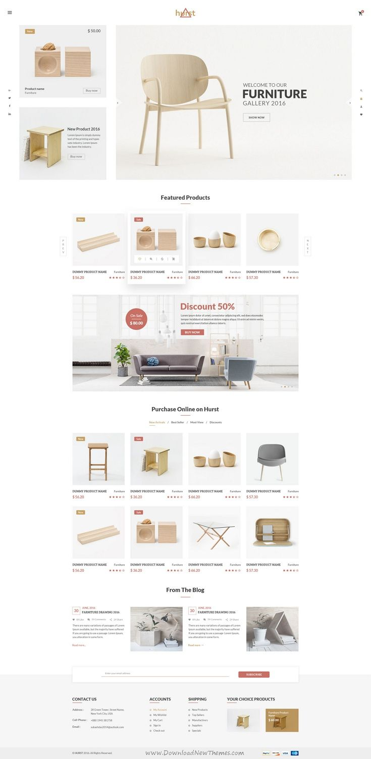 Hurst Is The Premium Psd Template For Furniture Shop Ecommerce