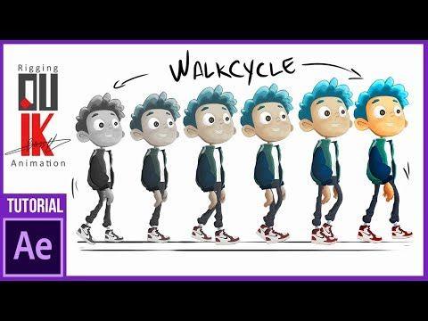 Animar Un Walk Cycle Con Duik En After Effects Tutorial Youtube Illustrator Tutoriales Animacion 2d Ilustración Vectorial