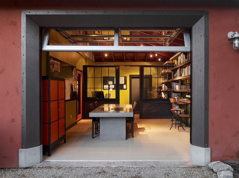 office in garage. 10 Garage Conversion Ideas To Improve Your Home (love Those Industrial Shelves) Office In I