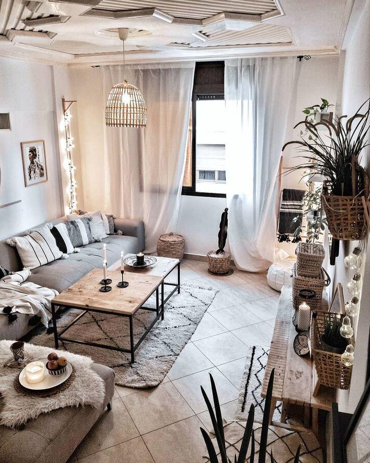 Photo of cozy boho room
